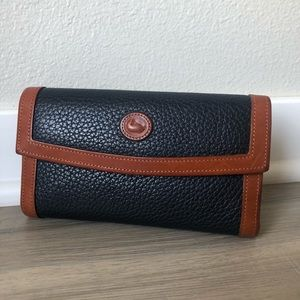 Vintage Dooney & Bourke Checkbook Wallet